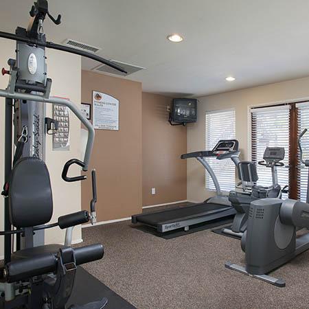 Fitness center at Hillside Terrace Apartments in Lemon Grove