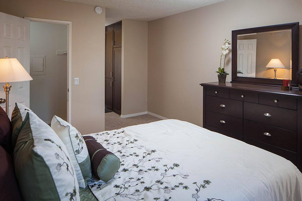 Bedroom at Shadow Ridge Apartments in Oceanside