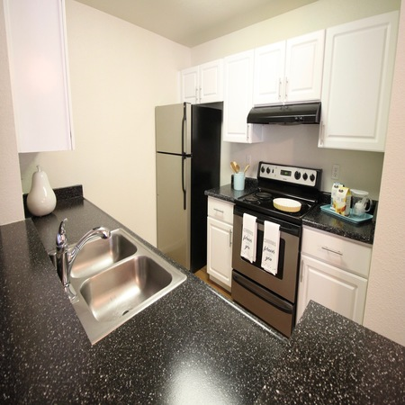 Fully Equipped Kitchen Room at Sommerset Apartments in Vacaville, CA