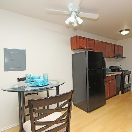 Dining area at Westline Apartments in Hanover Park