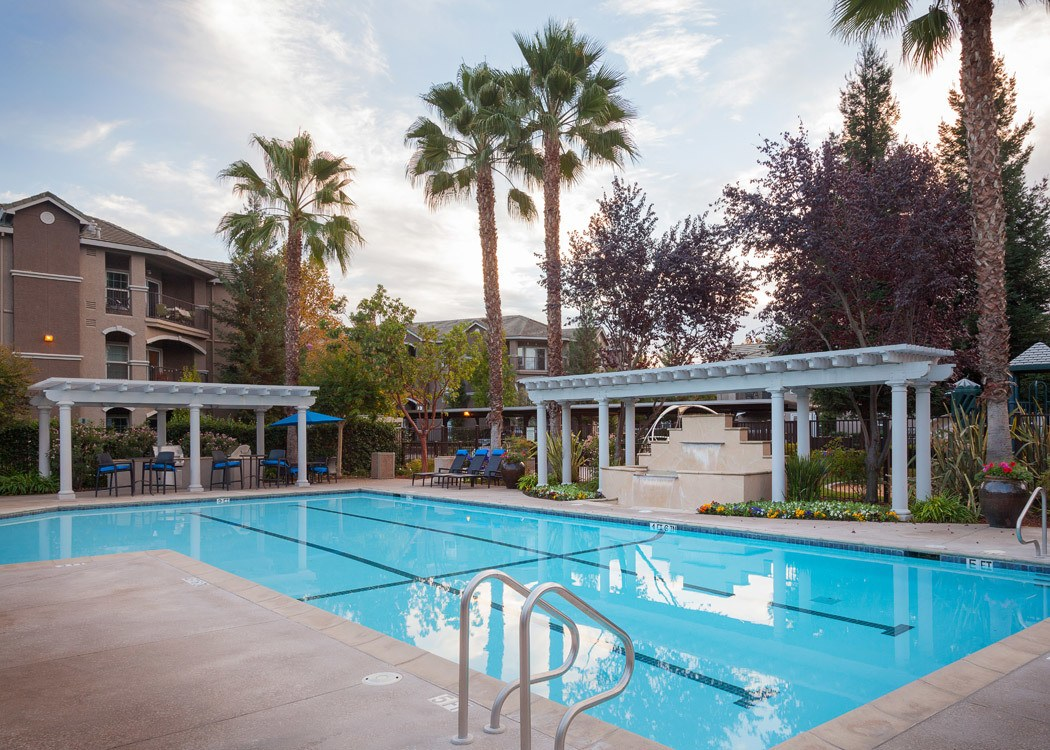 Outdoor Pool at Hawthorn Village Apartments in Napa,CA