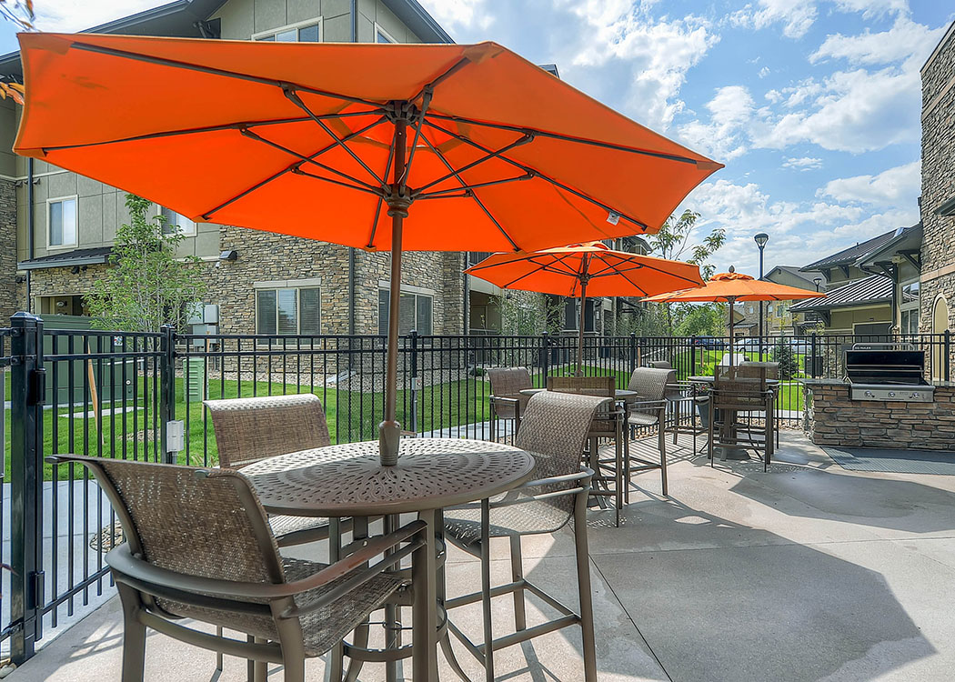 Patio at M2 Apartments in Denver