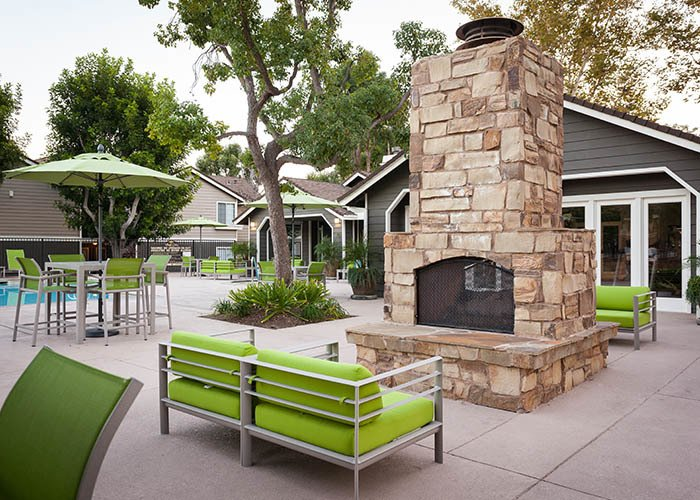 Outdoor fireplace  at Village Oaks