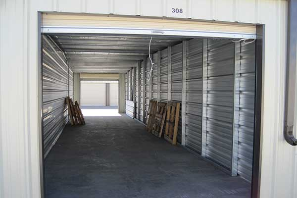 A drive-thru unit at Five Star Storage.