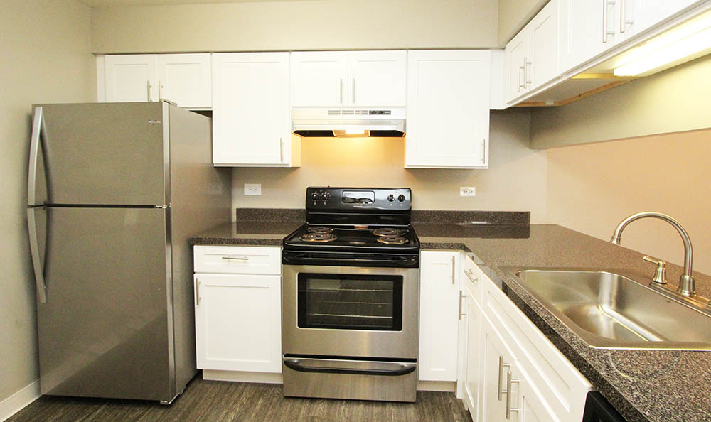 Kitchen at Lakeside Apartments