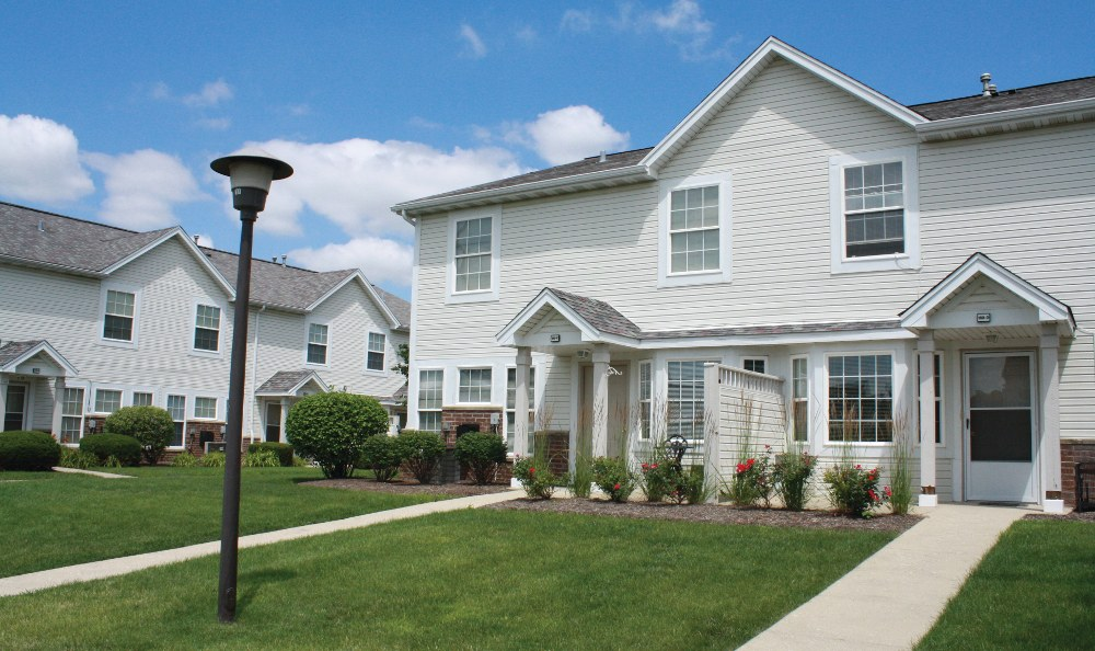 Home exterior at Lakeview Townhomes at Fox Valley