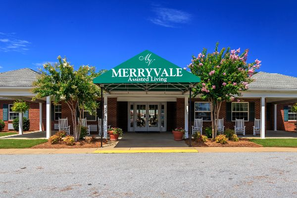 Entrance at Merryvale Assisted Living