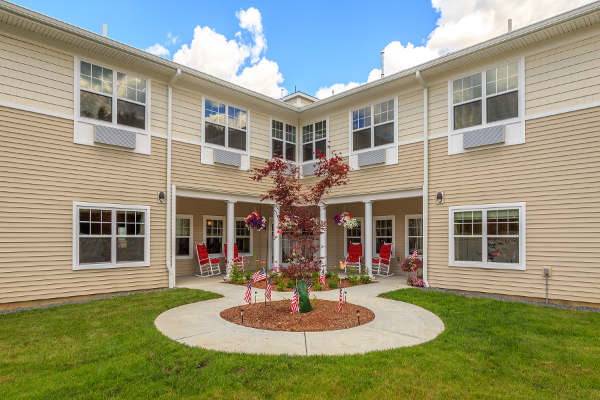 Exterior view of All American Assisted Living at Raynham