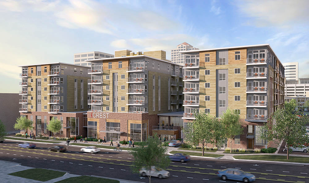 Rendering of Liberty Crest Apartments