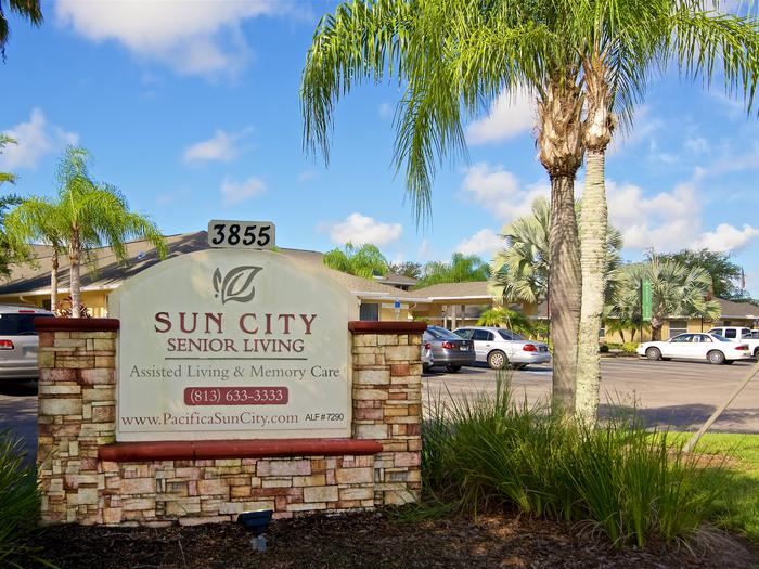 Main sign of our community facilities at Sun City Senior Living