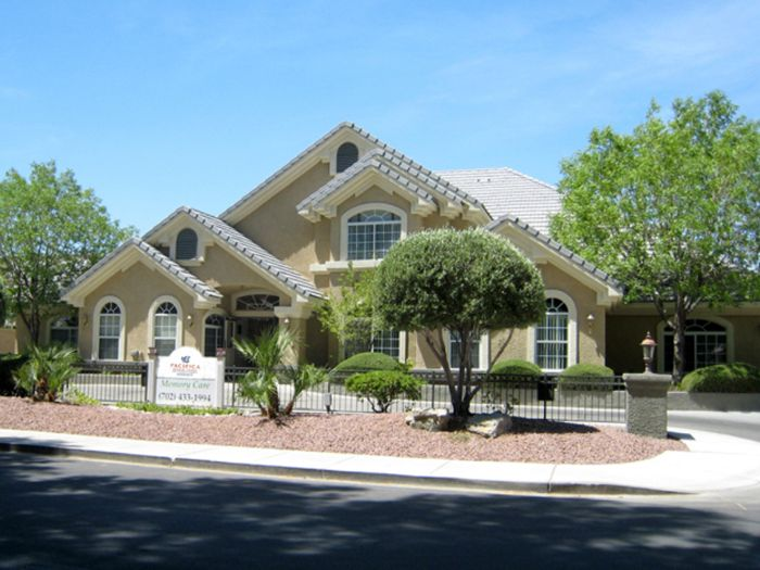 exterior view at Pacifica Senior Living Regency in Las Vegas, NV