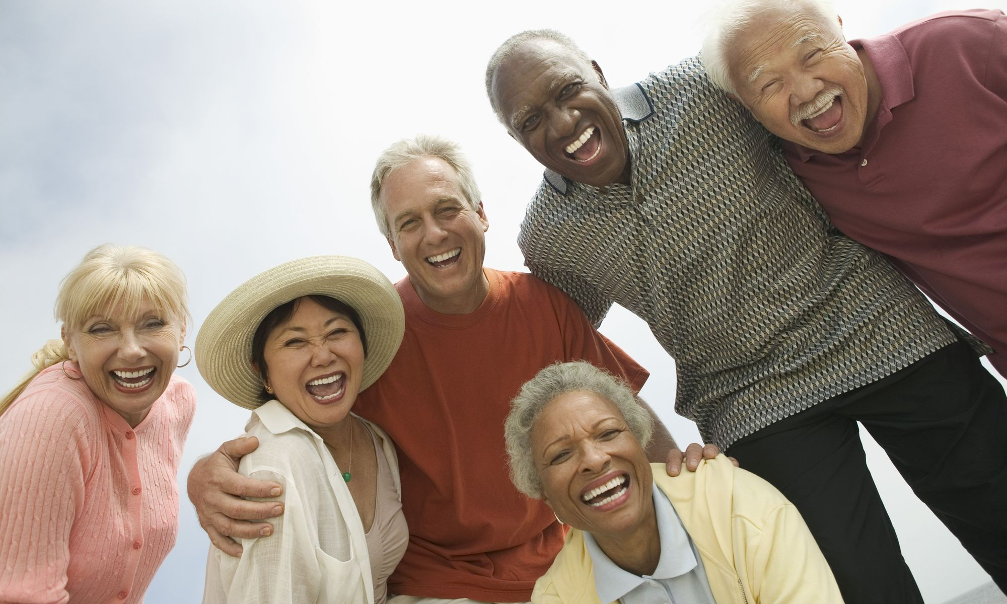 Happy residents enjoying Meridian at Kessler Park
