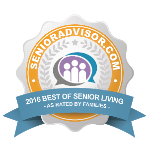 2016 Best of Senior Living Award for Pacifica Senior Living Paradise Valley