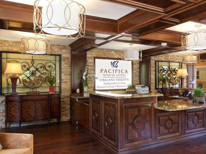 Front desk at Pacifica Senior Living Oakland Heights