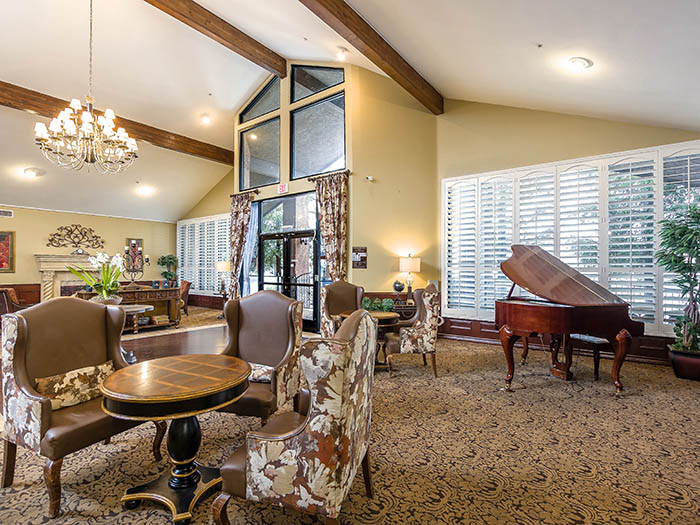 Gorgeous Pacifica Senior Living Northridge lobby