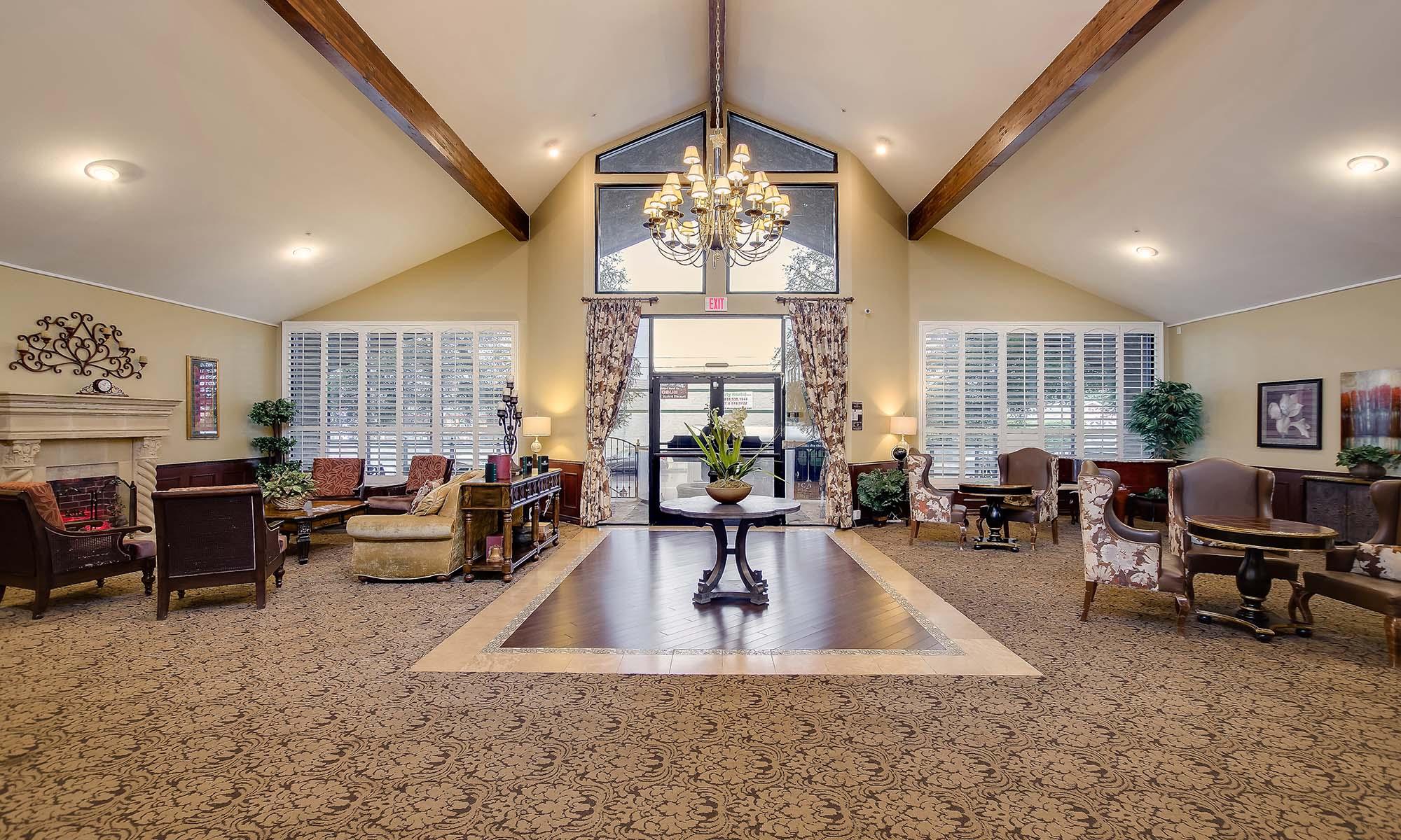 Lobby at Pacifica Senior Living Northridge