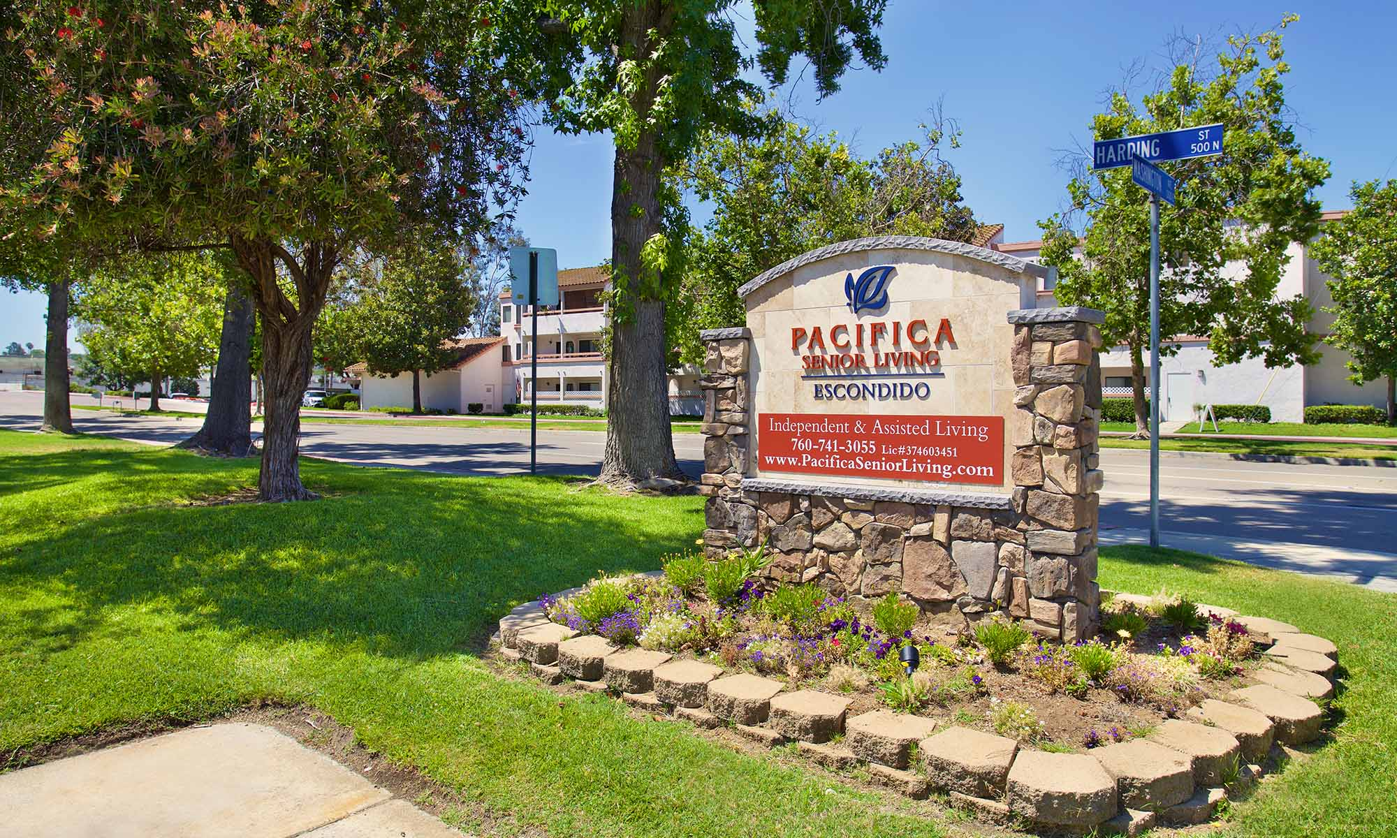 entrance to the Pacifica Senior Living Escondido community