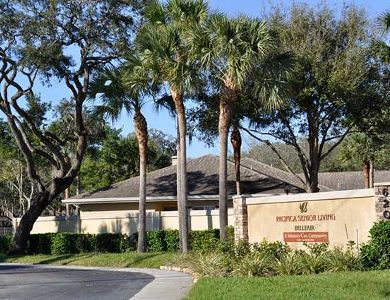Main sign to Pacifica Senior Living Belleair