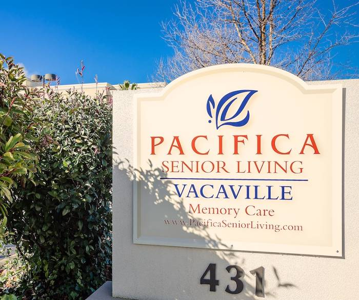 Entrance sign to our senior living community in Vacaville