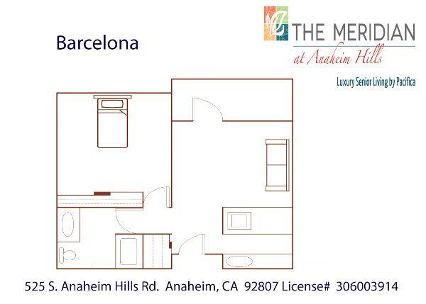 Barcelona floor plan at The Meridian at Anaheim Hills in Anaheim, CA