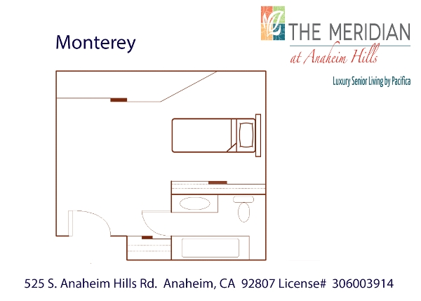 Monterey floor plan at The Meridian at Anaheim Hills in Anaheim, CA