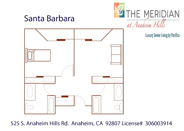 Santa Barbara floor plan at The Meridian at Anaheim Hills in Anaheim, CA