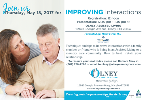 Join us for improving interactions
