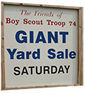 BSA Troop 74 yard sale