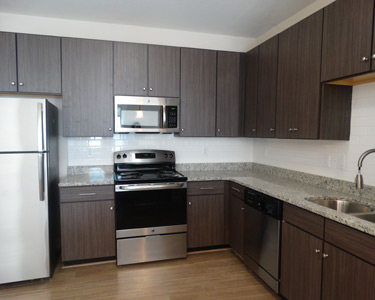 Updated kitchens at Harbor Vista in Portsmouth