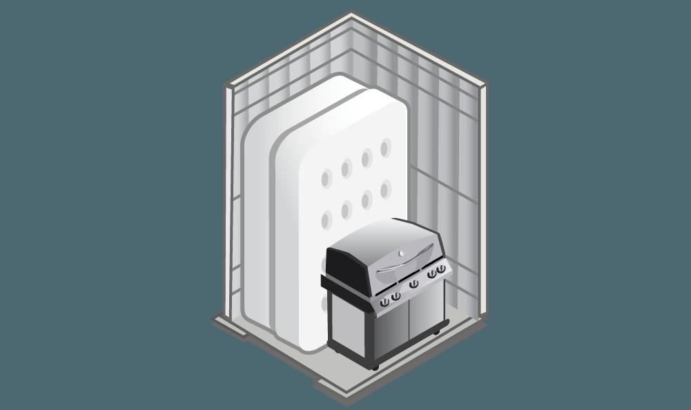 View our 5x5 storage unit at Princeton Storage