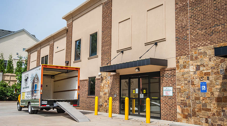 Moving trucks available at self storage facility in Smyrna