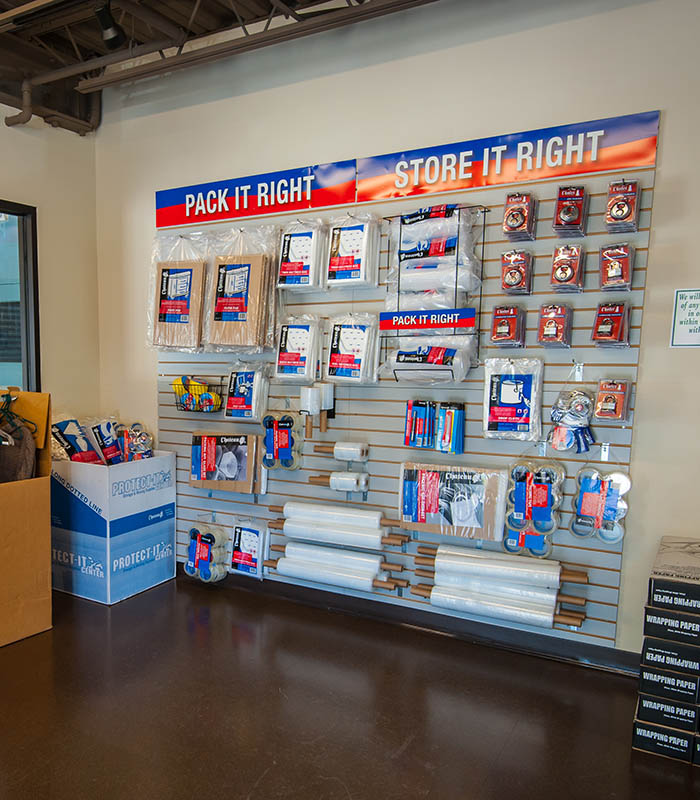 Storage supplies at Iron Horse Self Storage