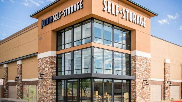 Entrance to Dominion Self-Storage