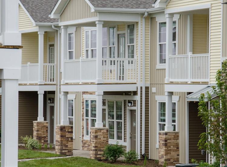 apartments exterior at Springs at Waukee Apartments in Waukee, IA