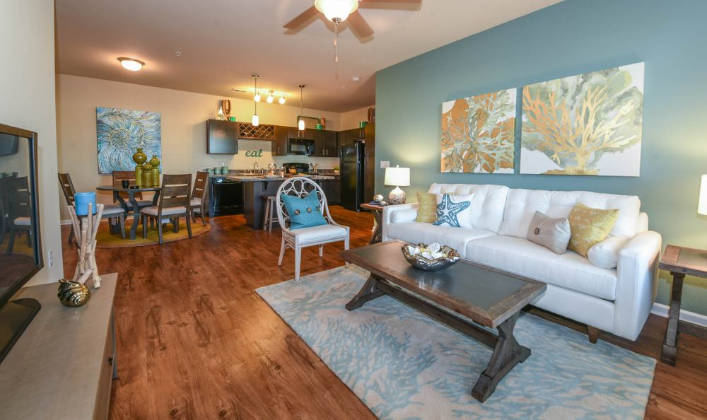 Ample living room at Springs at Gulf Coast in Estero