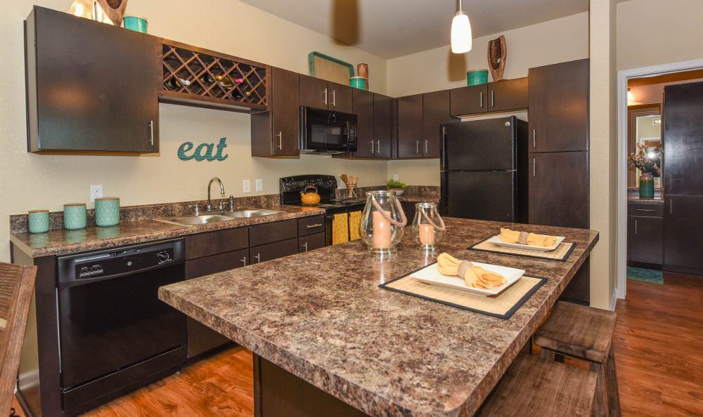 Modern kitchen at Springs at Juban Crossing in Denham Springs