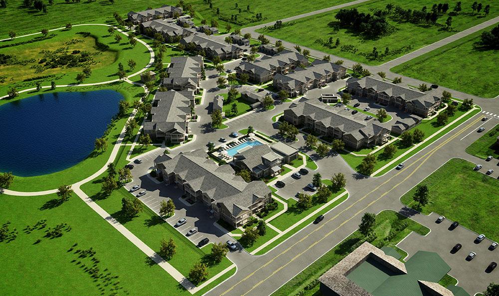 Aerial Rendering Of Springs at 2534 In Johnstown
