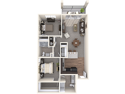 The Durham floor plan at Oxford at NewMarket