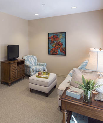 Cozy floor plan at The Oxford Grand Assisted Living & Memory Care