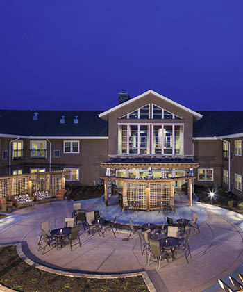 Gorgeous exterior view of The Oxford Grand Assisted Living & Memory Care