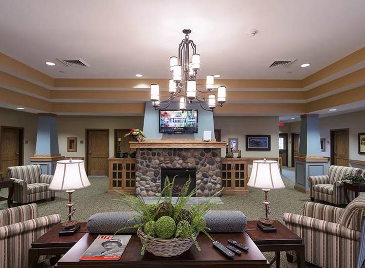 Lounge at Oxford Glen Memory Care at Sachse