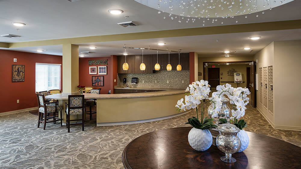 reception and foyer at The Oxford Grand Assisted Living & Memory Care