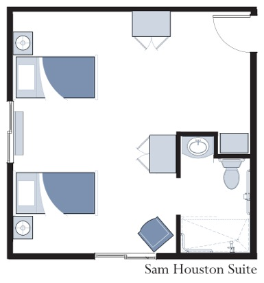 Sam Houston Suite at Oxford Glen Memory Care at Carrollton