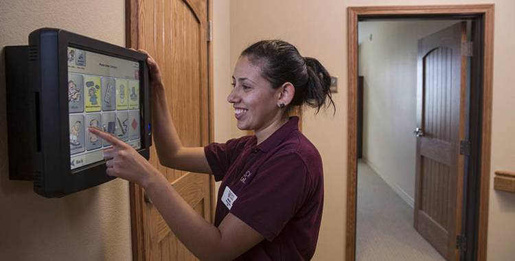 resident wellness technology, providing safety and peace of mind at Oxford Glen Memory Care at Owasso