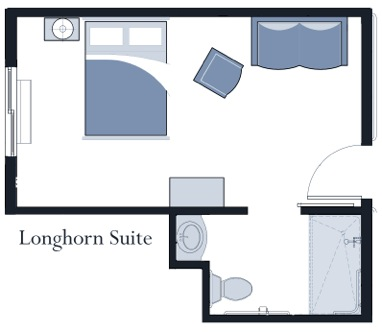 Longhorn suite at Oxford Glen Memory Care at Sachse