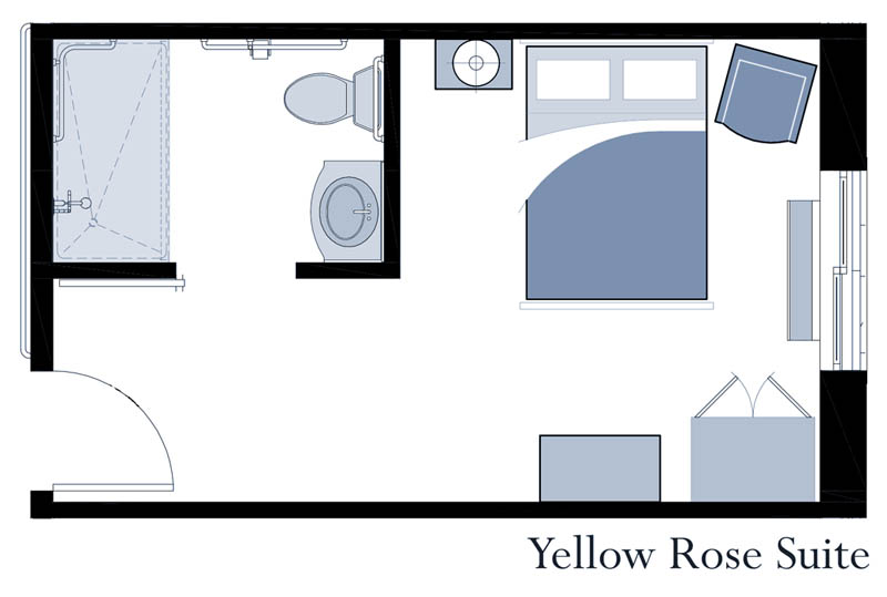 Yellow Rose suite at Oxford Glen Memory Care at Sachse