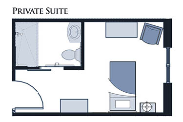 Private Suite floor plan at Glen Carr House Memory Care