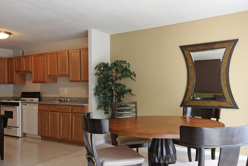 Spacious dining and kitchen area at Marbury Plaza