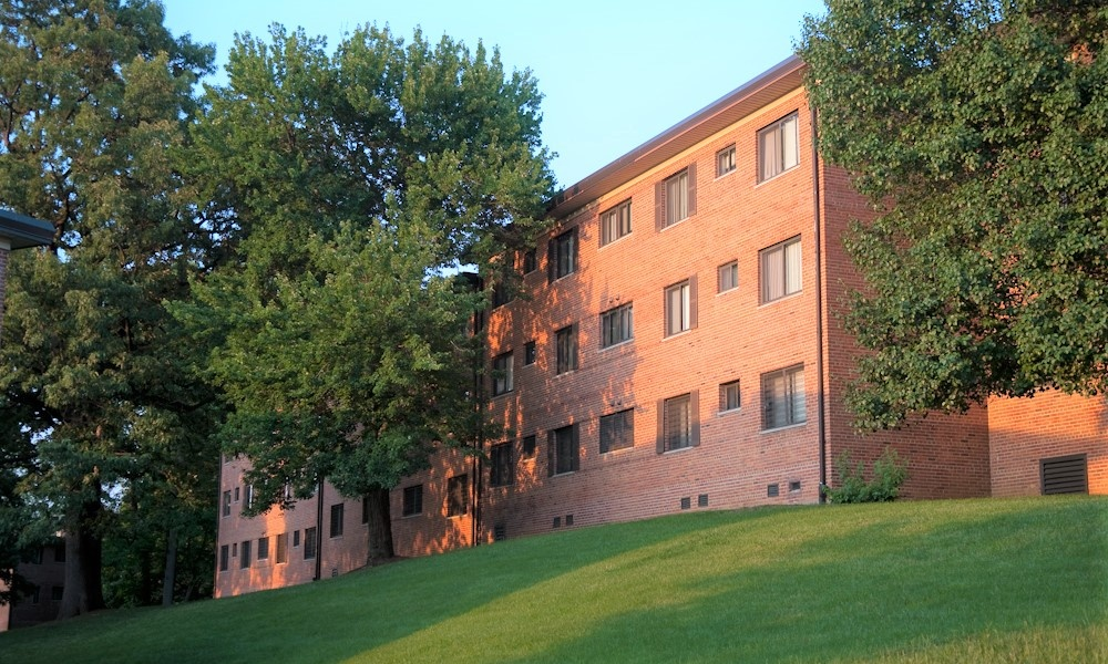 Exterior view from Park Forest Apartments in Oxon Hill