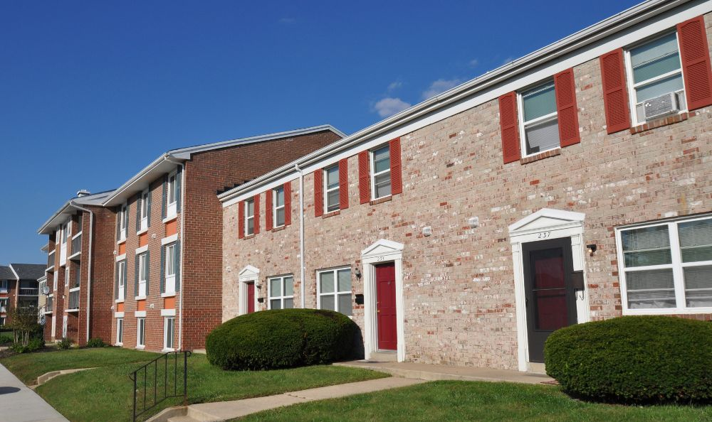 Exterior View Of Apartment Building At Essex Park In MD